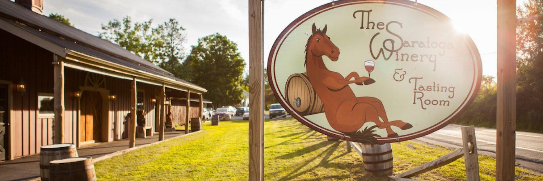 Winery roadside sign