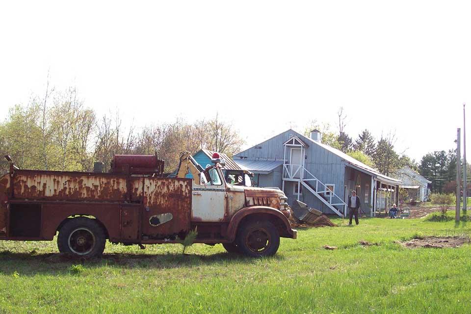Old rusty firetruck