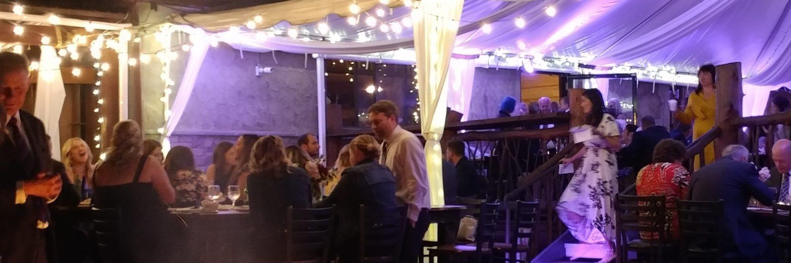 Wedding event under tent